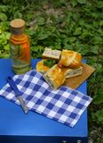 Picnic - meat pie royalty free stock photos