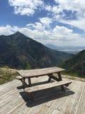 Picnic on the mountain top Stock Photos