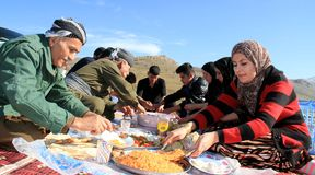 Picnic on mountains Stock Photography
