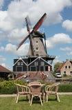 Picnic near windmill Royalty Free Stock Photography