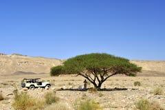 Picnic in Negev desert. Royalty Free Stock Image