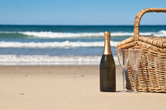 Picnic by the Ocean Royalty Free Stock Image