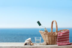 Picnic for one person at the sea Stock Image