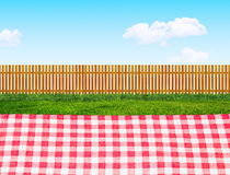Picnic outdoors. Background with grass Stock Photography
