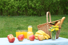 Picnic outside Stock Image