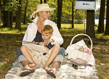 Picnic in Park Royalty Free Stock Photos