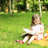 Picnic in park. Child having picnic in summer park Royalty Free Stock Photo
