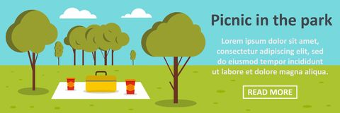Picnic in the park banner horizontal concept Royalty Free Stock Photography