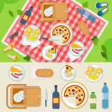 Picnic in park Stock Photos