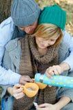 Picnic park couple royalty free stock photos