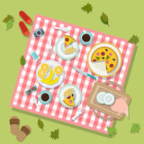 Picnic in park with dishes and cutlery Royalty Free Stock Photos