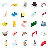 Picnic in the park icons set, isometric style. Picnic in the park icons set. Isometric set of 25 picnic in the park vector icons for web isolated on white Stock Image
