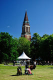 Picnic in park, Kiel, Germany stock photos