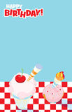 Picnic Party Invitation Design Stock Images
