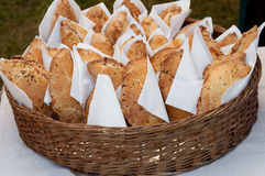 Picnic pastries stock photography