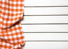 Picnic. Background cloth red kitchen tablecloth wooden Stock Image