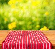 Picnic. Kitchen background outdoor cafe tablecloth cloth Stock Images
