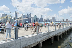 Picnic Pier in Brooklyn Bridge Park Royalty Free Stock Photos