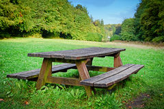 Picnic place in forest Royalty Free Stock Images