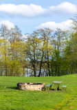 Picnic place in the meadow Stock Photography