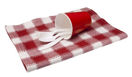 Picnic placesetting Royalty Free Stock Images