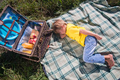 Picnic is always pleasure Stock Photo