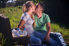 Picnic is always pleasure Royalty Free Stock Photography
