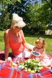 At the picnic Stock Image