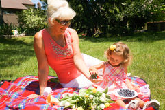 At the picnic Royalty Free Stock Images