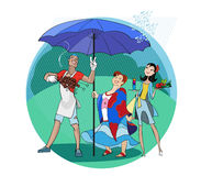 Picnic in the rain Royalty Free Stock Photography