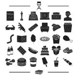 Picnic, rarity, dessert and other web icon in black style.treat, rest, barbecue, icons in set collection. Picnic, rarity, dessert and other  icon in black style Stock Photography