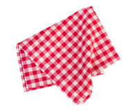 Picnic red cloth isolated. Royalty Free Stock Images