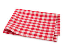 Picnic red clothes folded isolated. Royalty Free Stock Image