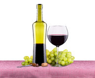 Picnic with red wine and grapes Royalty Free Stock Photos