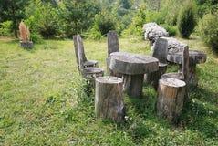 picnic retro stół Fotografia Stock