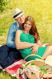 Picnic romance Royalty Free Stock Photos