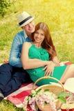 Picnic romance Royalty Free Stock Photos