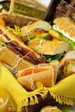 Picnic Salad Rolls Royalty Free Stock Images