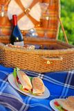Picnic sandwiches Royalty Free Stock Images