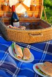 Picnic sandwiches Stock Photos