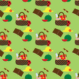 Picnic seamless pattern Stock Photos