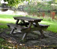 Picnic seating Royalty Free Stock Image