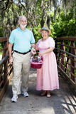 Picnic Seniors on Bridge Royalty Free Stock Photos