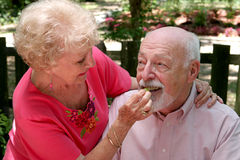 Picnic Seniors - Taste This Royalty Free Stock Photo