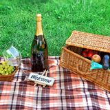 Picnic setting Stock Photography