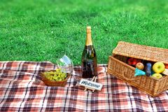 Picnic setting Stock Image