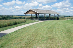 Picnic Shelter. A picnic area at the Ashfall State Park in Nebraska Stock Photos