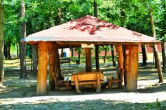 Picnic Shelter Stock Photo