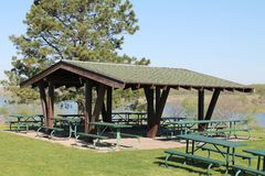 Picnic Shelter. View of a picnic shelter at a state park Stock Images