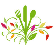 Picnic sign. Fork, fresh healthy vector illustration